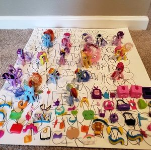 My Little Pony Lot of 16 plus accessories